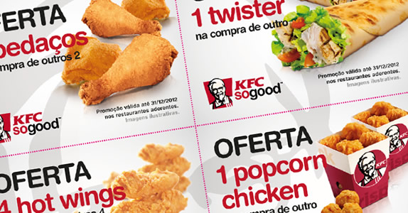 Mais vales de descontos KFC