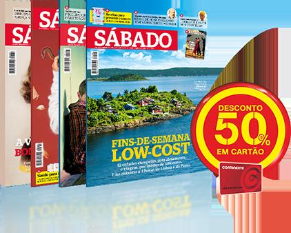 Assine a revista Sábado e poupe €19,50 em cartão Continente