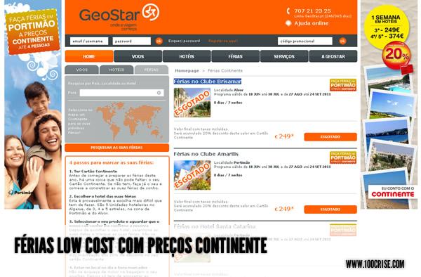 Férias no Algarve com preços Continente