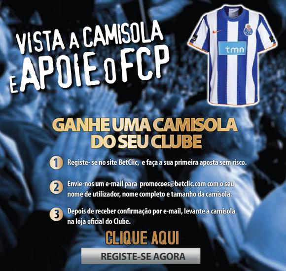 Betclic oferece camisolas do Futebol Clube do Porto