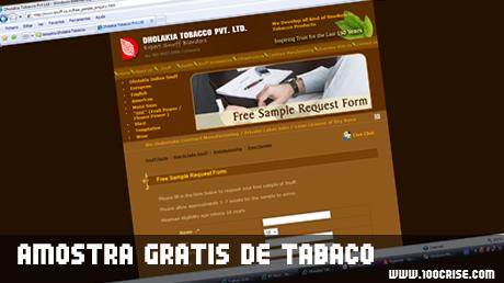 Amostra grátis de tabaco