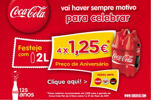 Celebra os 125 anos da Coca-Cola