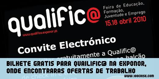 Bilhete grátis QUALIFIC@ Feira de Educação, Formação, Juventude e Emprego