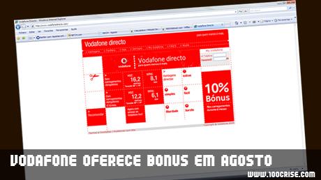 Vodafone oferece bonus em carregamentos durante o mês de Agosto