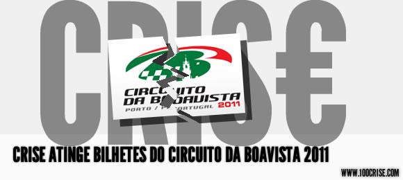 Circuito da Boavista com poucos bilhetes vendidos devido à crise