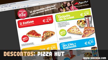 Descontos nos restaurantes Pizza Hut