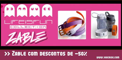 Zable com descontos de 50% no site Clube Fashion