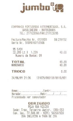 Poupei 3.28€ em Gasolina Jumbo…