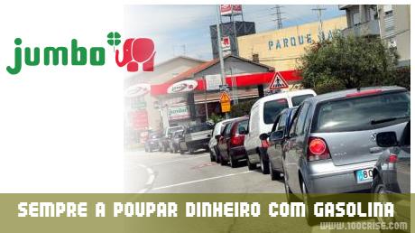 Mais 1 poupança de 4.45 euros com gasolina Jumbo sem chumbo 95