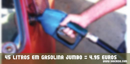 Mais 45 litros de gasolina sem chumbo 95 para poupar 4.95 euros