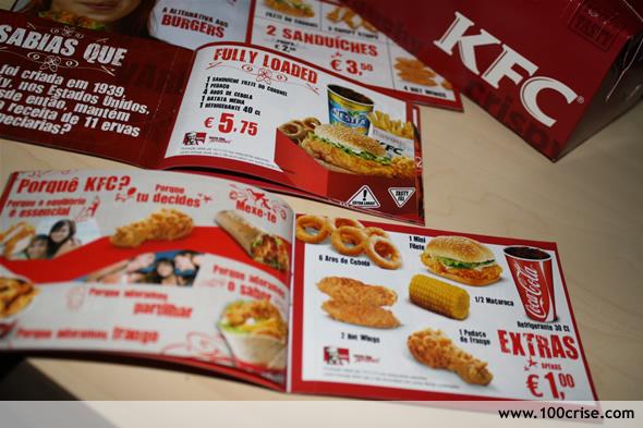 Mais vales de ofertas para restaurantes KFC