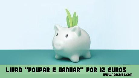 """Livro """"Poupar é ganhar"""" por Miguel Patrício, á venda por 12 euros."""