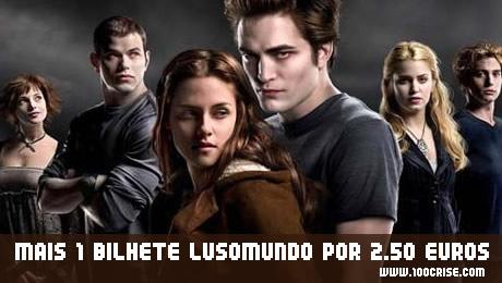 Bilhete Cinema Zon Lusomundo 2.50 euros (Lua Nova)