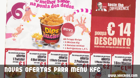 KFC propõe novas ofertas em menus, por apenas mais 1 euro