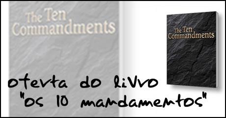 """Oferta do livro """"Os 10 Mandamentos"""""""