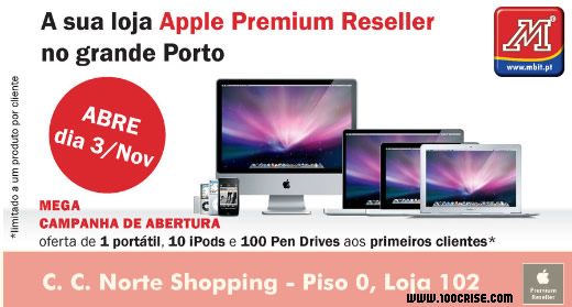 Abertura da loja Apple Premium Reseller no grande Porto com oferta de prémios
