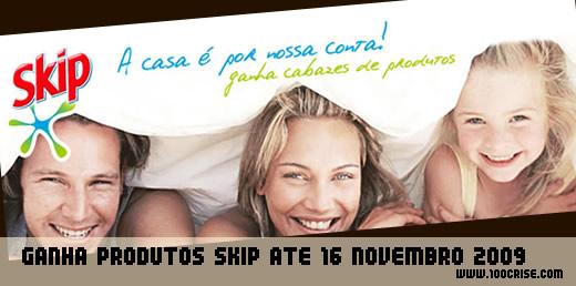 """Concurso Skip até dia 16 Novembro – """" A casa é por nossa conta """""""