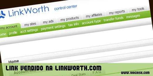 Mais 1 rendimento mensal com venda de links na Linkworth.com