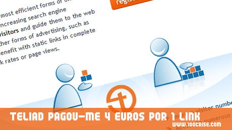 Recebi pagamento de 4 euros da empresa Teliad por venda de 1 link