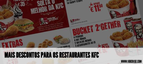 Mais vales de descontos para restaurantes KFC